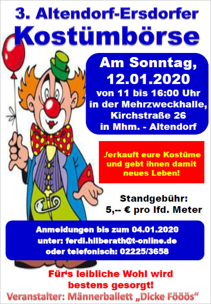 Karneval-Kostümbörse Altendorf-Ersdorf