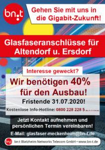 Glasfaseranschluss Altendorf Ersdorf bn:t