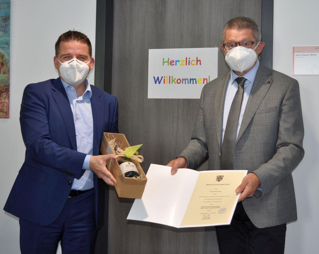 Dienstbeginn für Hans-Dieter Wirtz